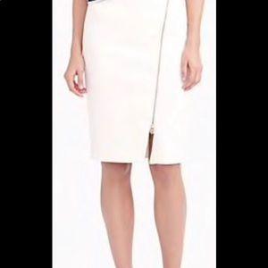 J. Crew Classic pencil skirt & edgy exposed zipper
